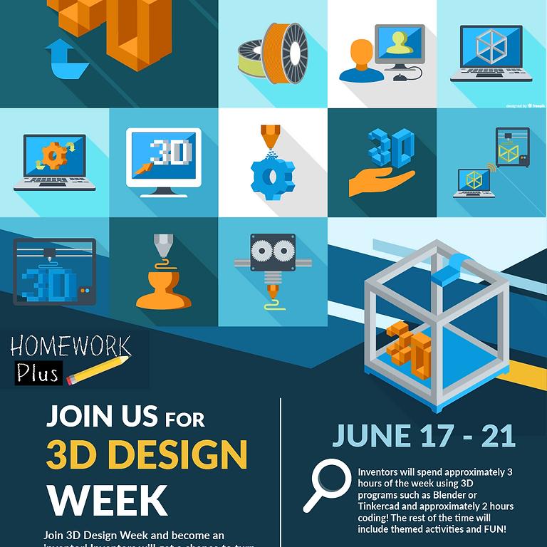STEAM Tech Camp - 3D Design Week