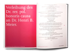 Festschrift Inhalt