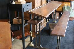 Old 4 seater antique school desk