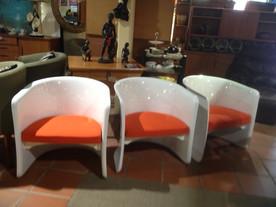70's fibregl;ass chairs