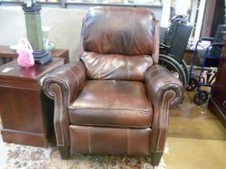 chair brown leather armchair.JPG