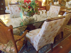 table n chairs glass top and 6 chairs.JPG