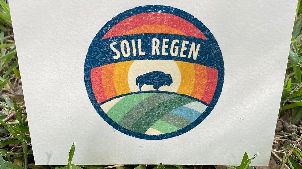 Soil Regen blank greeting cards - set of 5
