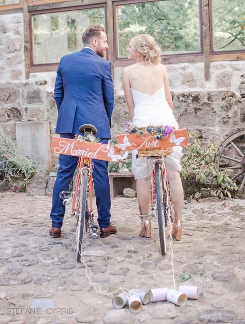 Hochzeit mit Fahrrad