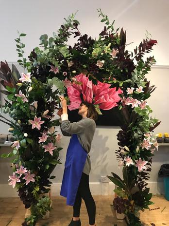 London Flower School Flower Arch