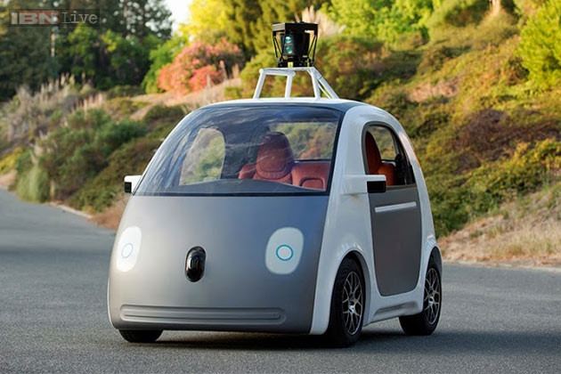 Google's cutesy car - it knows where the parking spaces are