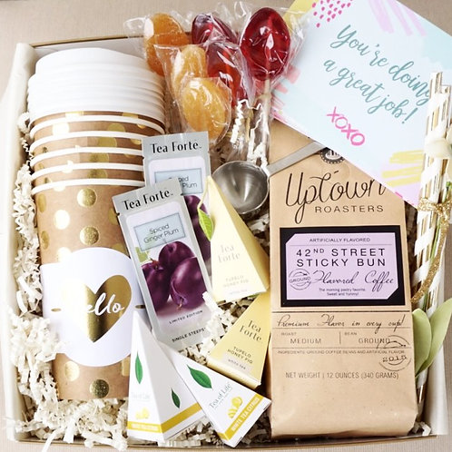 6 PERSON STAFF APPRECIATION COFFEE & TEA GIFT BOX