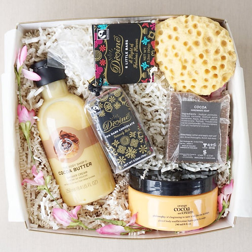 COCOA BUTTER & CHOCOLATE SPA DAY GIFT BOX