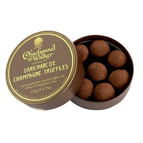 CHOCOLATE CHAMPAGNE TRUFFLES // DARK