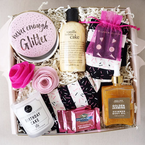 NEVER ENOUGH GLITTER BIRTHDAY GIFT BOX