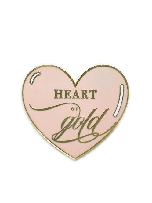 HEART OF GOLD ENAMEL PIN