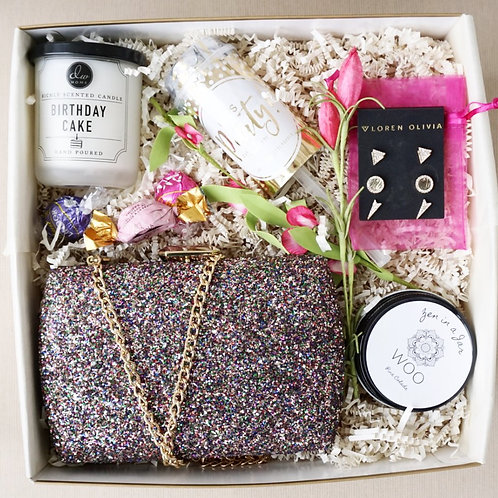 GLITTER CLUTCH PURSE & PARTY GIFT BOX