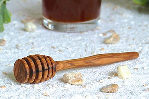 OLIVE WOOD HONEY DIPPER