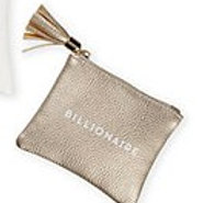 """BILLIONAIRE"" CHAMPAGNE COIN PURSE"