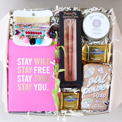 STAY TRUE JOURNAL & GIRL POWER TEEN GIFT BOX