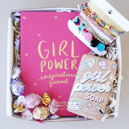 GIRL POWER JOURNAL & POM-POM BRACELET GIFT BOX