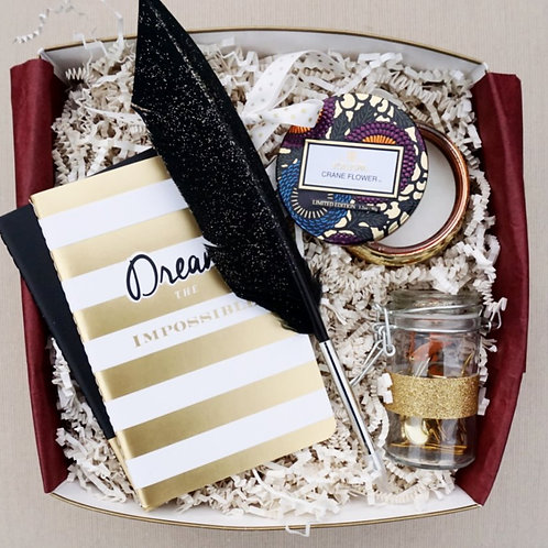 DREAM FEATHER DESK ACCESSORIES GIFT BOX