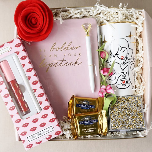 BOLDER THAN YOUR LIPSTICK JOURNAL & MUG GIFT BOX