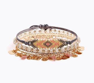 JEWELED TRIBAL BRACELET (p)