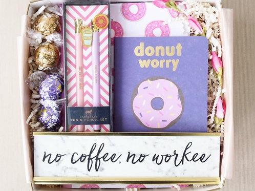 NO COFFEE, NO WORKEE DESK KIT GIFT BOX