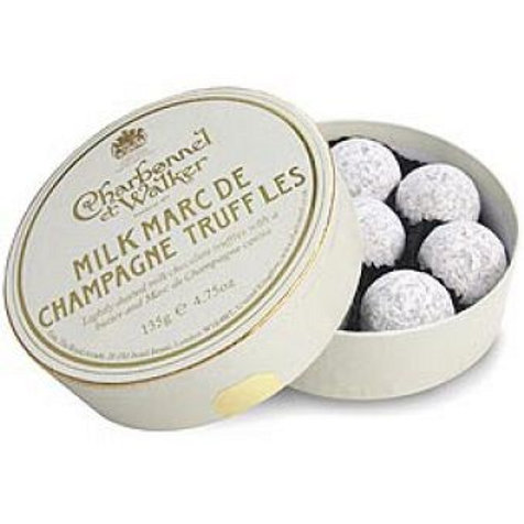 MILK CHOCOLATE CHAMPAGNE TRUFFLES