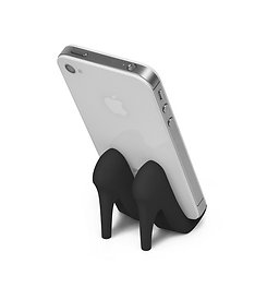 BLACK PUMP PHONE STAND
