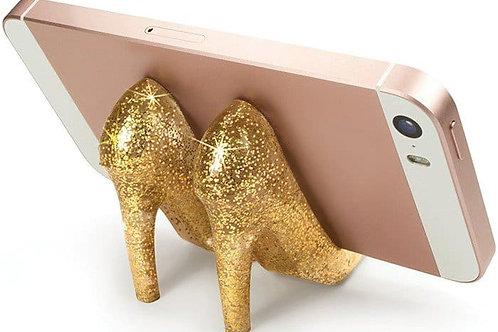 GLITTER PUMP PHONE STAND