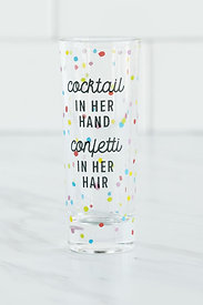 """COCKTAIL & CONFETTI"" SHOT GLASS"