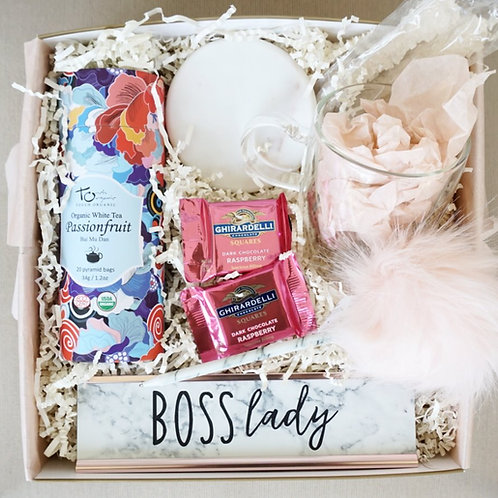 BOSS LADY MARBLE DECOR & TEA DESK KIT GIFT BOX