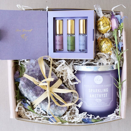 AMETHYST & STARGAZERS PARFUME CANDLE GIFT BOX
