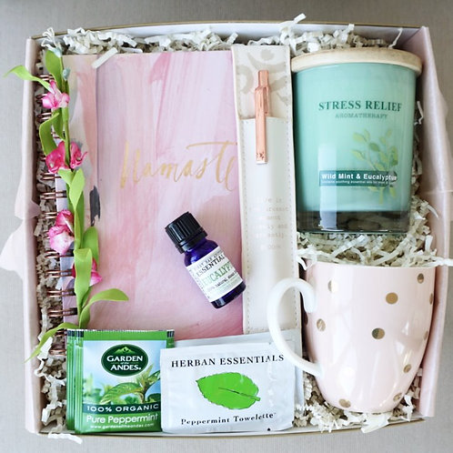 NAMASTE JOURNAL & CANDLE CARE PACKAGE