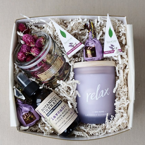 LAVENDER CHAMOMILE SPA DAY GIFT BOX