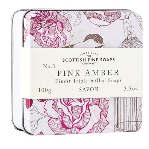 PINK AMBER TRIPLE MILLED SOAP