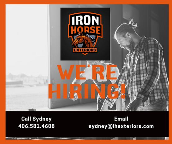Iron Horse Exteriors Employment Ad