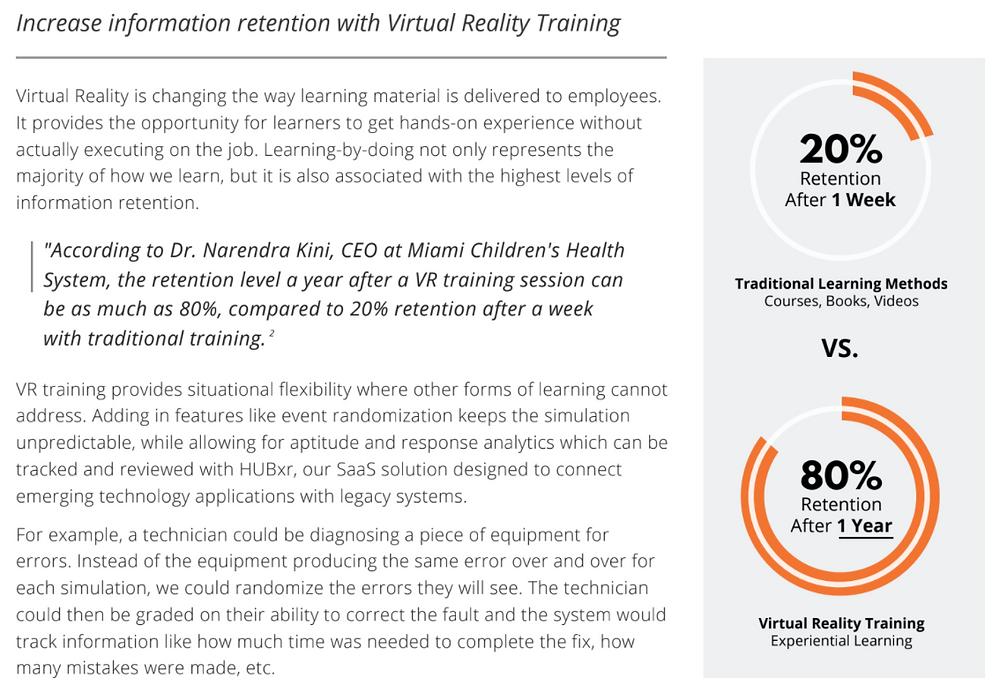 VR training safety retention education information