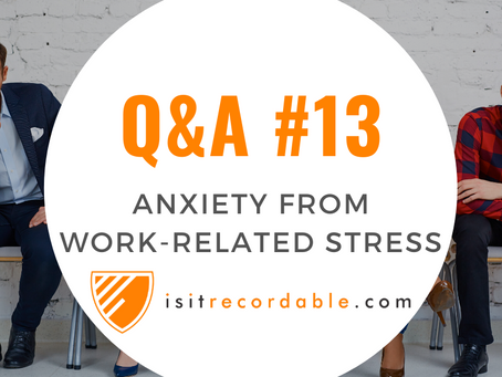 Q13 - Anxiety from Work-Related Stress