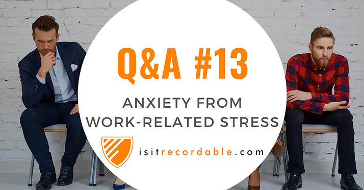 Anxiety from Work-Related Stress