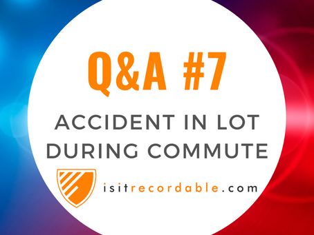 Q7 - Accident in Company Parking Lot During Commute