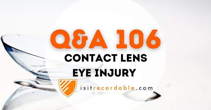 Contact Lens Eye Injury