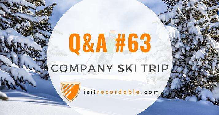 Company Ski Trip