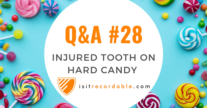 Injured Tooth on Hard Candy