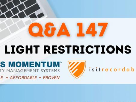 Q147 - Light Restrictions