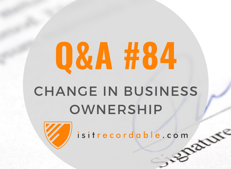 Q84 - Change in Business Ownership