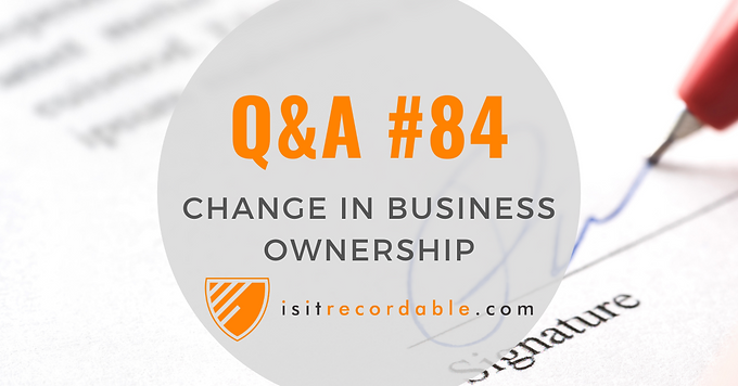 Change in Business Ownership