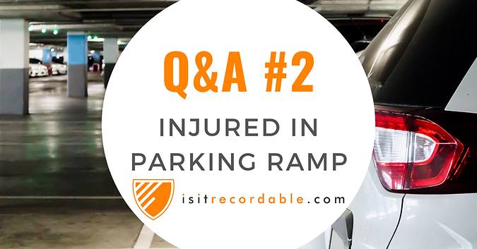 Injured in Parking Ramp