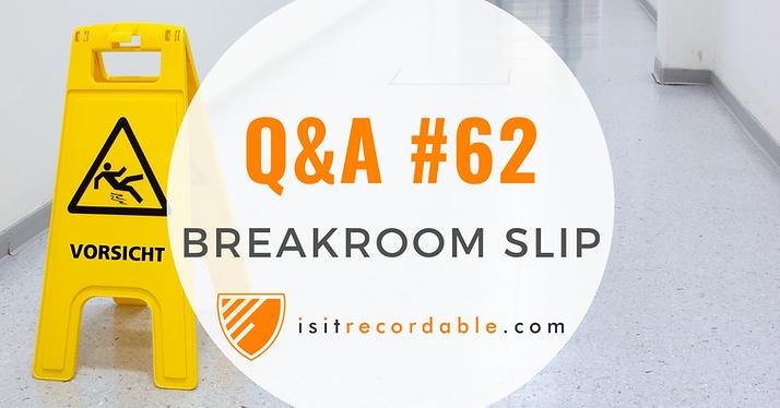 Break Room Slip