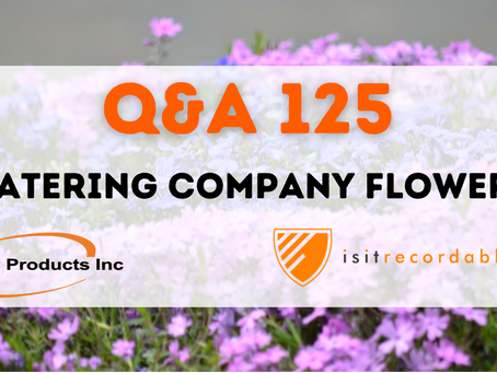 Q125 - Watering Company Flowers