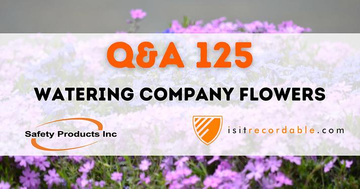 Watering Company Flowers