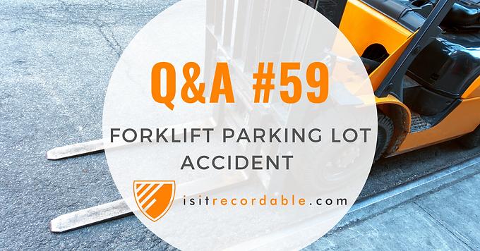 Forklift Parking Lot Accident