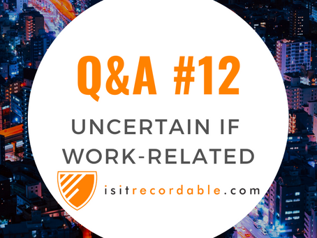 Q12 - Uncertain if Work-Related